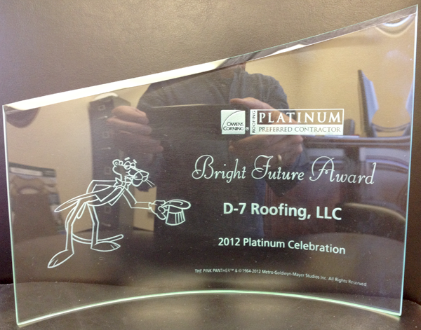 Owens Corning - Bright Future Award 2012 - d-7 Roofing